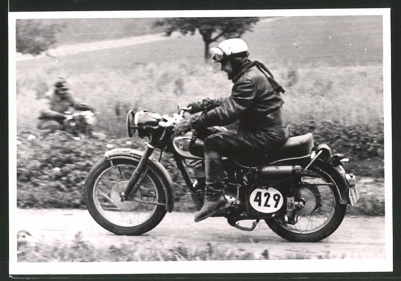 Fotografie Motorrad-Rennen, Motorrad DKW GS mit Startnummer 429
