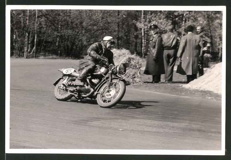Fotografie Motorrad-Rennen, Motorrad DKW GS mit Startnummer 85