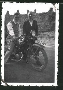 Fotografie Motorrad DKW, Krad-Kennzeichen IT-19239