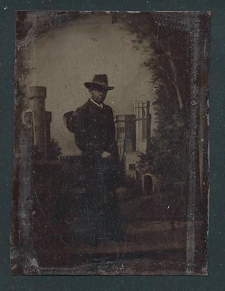 Fotografie Ferrotypie junger Mann mit Hut