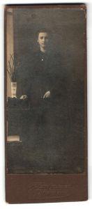 Fotografie F. Hartmann, Dittersbach, Portrait Mädchen in festlicher Kleidung