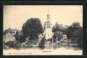 AK Hermance, Blick zur Kirche