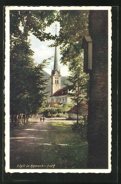 AK Alpnach, Idylle im Dorf 0
