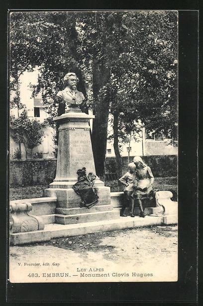 AK Embrun, Monument Clovis Hugues, Les Alpes 0