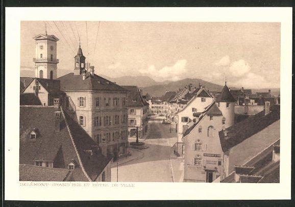 AK Delémont, Grand Rue et Hotel de Ville 0