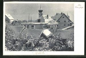 AK Grüsch, Panorama im Winter