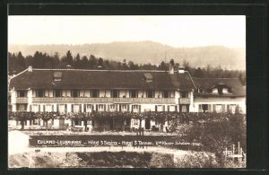 AK Evilard-Leubringen, Hotel 3 Sapins, Hotel 3 Tannen, vue Kluser-Schwarz