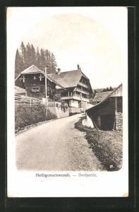 AK Heiligenschwendi, Strassenpartie im Dorf