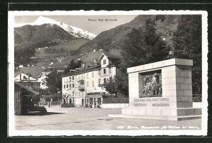 AK Airolo, Monumento Le Vittimo del lavoro, Passo San Gottardo