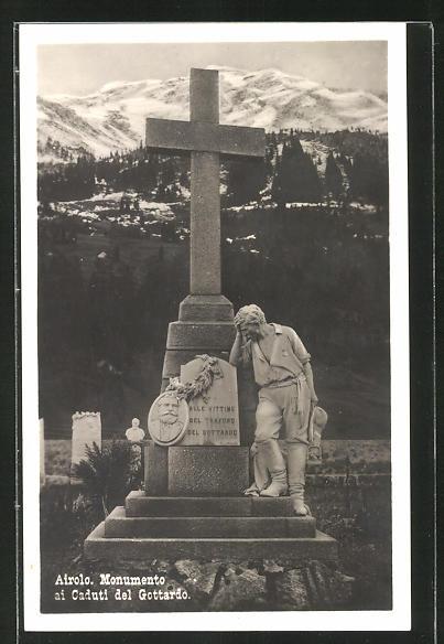 AK Airolo, Monumento ai Caduti del Gottardo