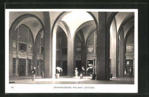 AK Johannesburg, Railway Station, Bahnhofshalle