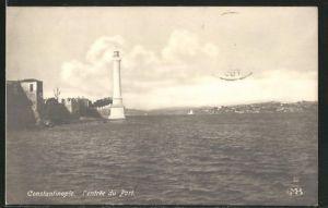 AK Constantinople, l'Entrée du Port, Leuchtturm