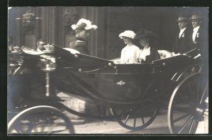 AK König Albert von Belgien bei einer Kutschfahrt