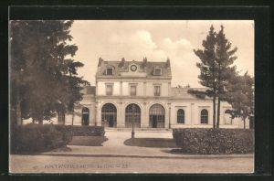 AK Fontainebleau, La Gare, Ansicht vom Bahnhof