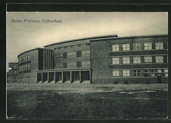 AK Berlin-Wittenau, Volksschule, Bauhaus