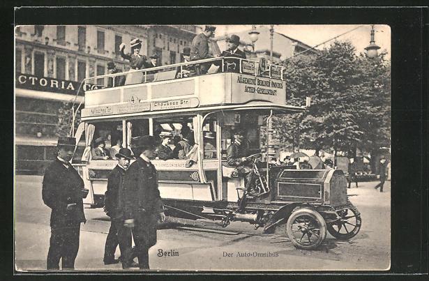 AK Berlin, Auto-Omnibus, Stadtrundfahrt
