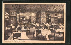 AK Berlin-Schöneberg, Restaurant Ratsweinkeller, Innenansicht