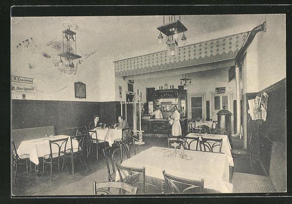 AK Berlin-Schöneberg, Wiener Restaurant, Innenansicht vom Gastraum 0