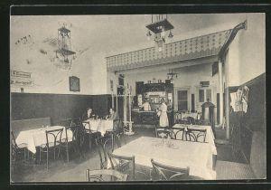 AK Berlin-Schöneberg, Wiener Restaurant, Innenansicht vom Gastraum