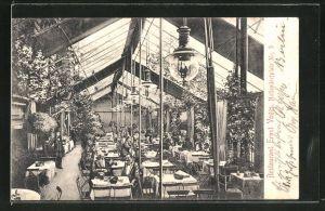 AK Berlin-Schöneberg, Restaurant Ernst Voges, Nollendorfplatz 9, Innenansicht