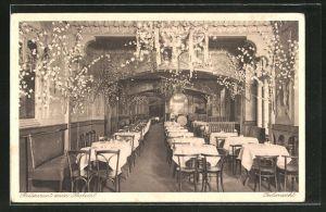 AK Berlin-Schöneberg, Restaurant zum Krokodil, Hauptstr. 139, Innenansicht