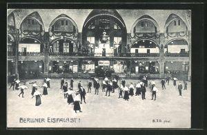 AK Berlin-Schöneberg, Innenansicht vom Berliner Eispalast
