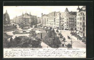 AK Berlin-Schöneberg, Viktoria-Luise-Platz mit Geschäften