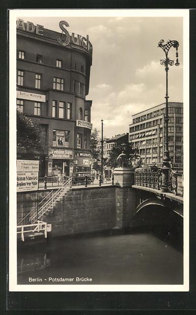 AK Berlin-Tiergarten, Potsdamer Strasse an der Potsdamer Brücke