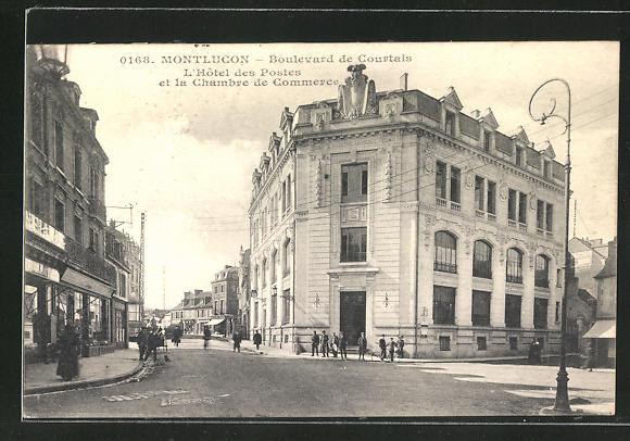 AK Montlucon, L'Hotel des Postes et la Chambre de Commerce, Boulevard de Courtais