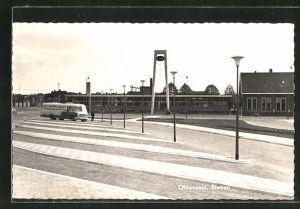 AK Oldenzaal, Station, Partie am Bahnhof