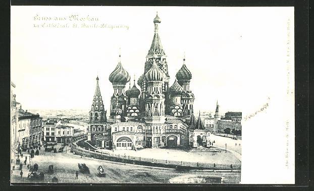 AK Moskau, La Cathédrale St. Basile-Blagennoy
