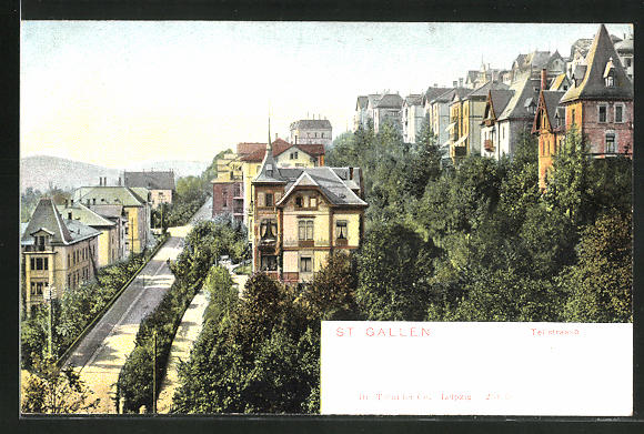 AK St. Gallen, Villen an der Tellstrasse