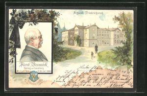 AK Portrait von Fürst Bismarck, Schloss Friedrichsruh