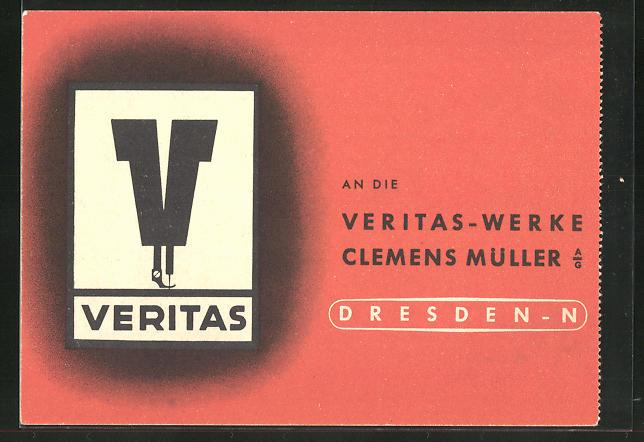 AK Veritas-Werke Clemens Müller AG, Nähmaschine