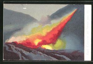 AK Napoli, L' eruzione del Vesuvio Aprile 1906, ausbrechender Vulkan