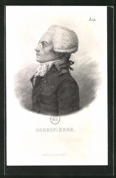 AK Seitenportrait Maximilien Robespierre, französische Revolution