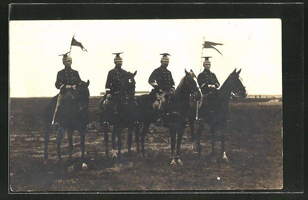 AK Belgische Ulanen Patrouille