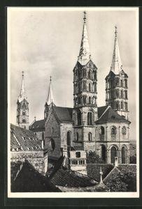 Foto-AK Deutscher Kunstverlag, Nr. 8, Walter Hege: Bamberg, Dom von Nordwest betrachtet