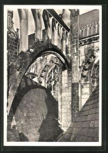 Foto-AK Deutscher Kunstverlag, Nr. 19, Walter Hege: Xanten, St. Viktors-Dom, Strebewerk der Südseite