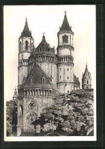Foto-AK Deutscher Kunstverlag, Nr. 18a, Walter Hege: Worms, Dom von Südwesten betrachtet