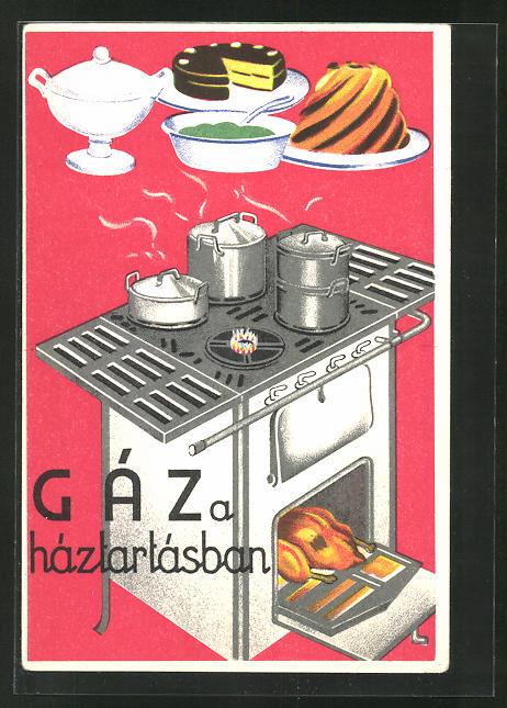 AK Gáz a háztartásban, Herd mit Ofen