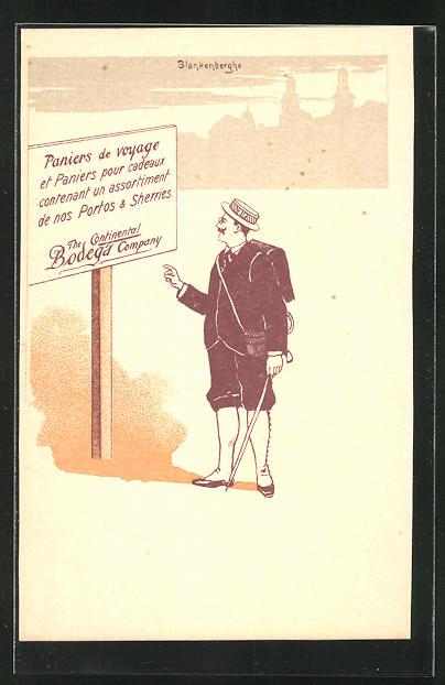 AK Reklame The Continental Bodega Company, Paniers de voyage