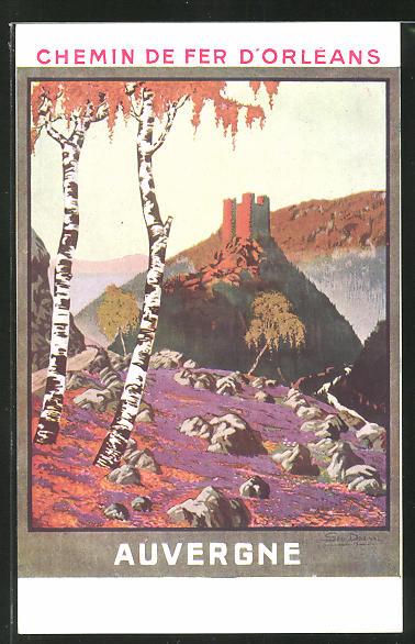 Künstler-AK Tourismus-Reklame der