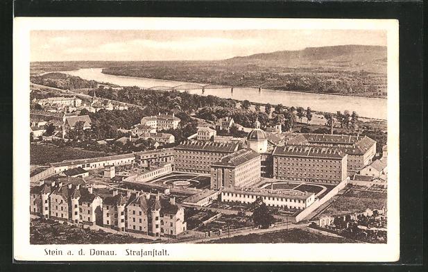 AK Stein a. d. Donau, Blick zur Strafanstalt