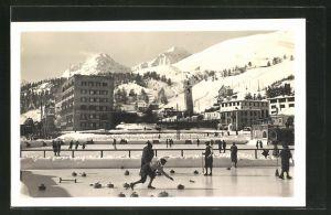 AK St. Moritz, Winterpartie mit Eisstockschiessen / Curling