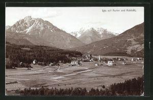 Foto-AK Fritz Gratl: Igls, Panorama mit Serles und Habicht