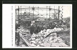 AK Geneve, Vue du Gazometre apres l'explosion du 23 Aout 1909