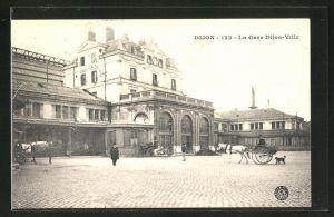 AK Dijon, La Gare Dijon-Ville, Bahnhof