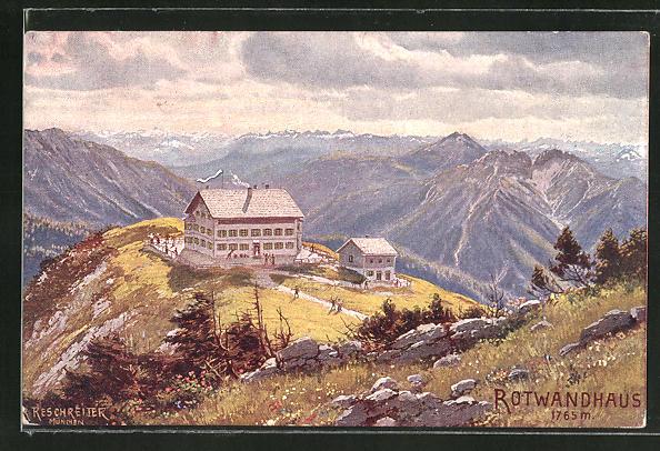 Künstler-AK Franciszek Zmurko: Blick zum Rotwandhaus