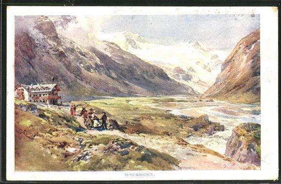 Künstler-AK Edward Theodore Compton: Moserboden, Panorama